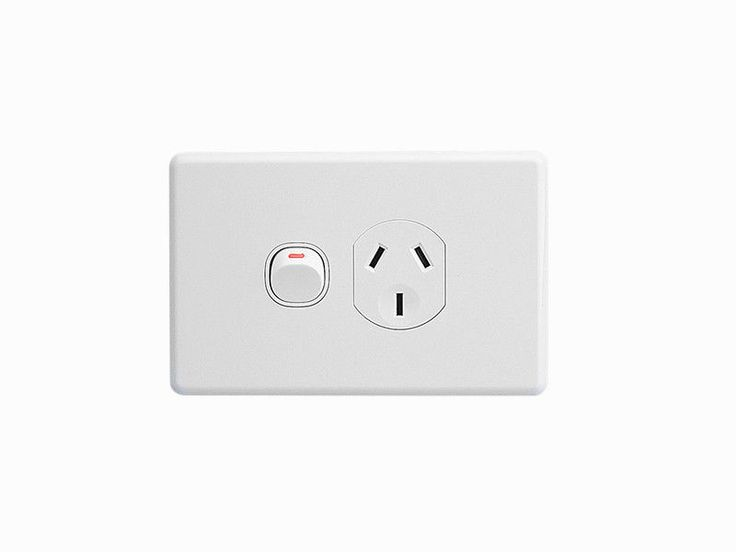 Clipsal Classic Single Power Point 10A GPO Single Switched Socket White C2015