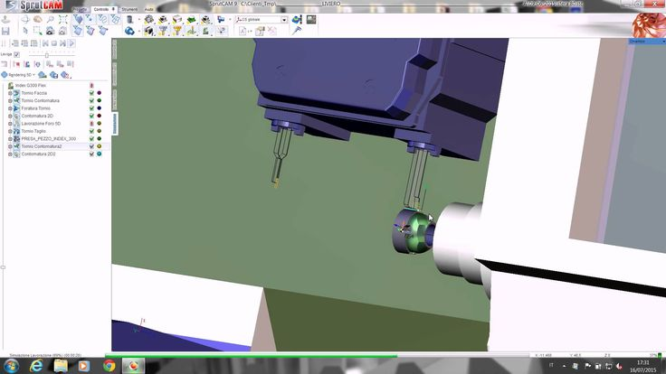 Offline programming of multi-task machining for Index G300 in SprutCAM by SintesiCADCAM