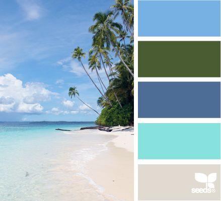 tropical tonesBedrooms Colors Schemes, Bathroom Colors, Design Seeds, Colors Palettes, Painting Colors, Boys Room, Colours Palettes, Tropical Beach, Colors Inspiration