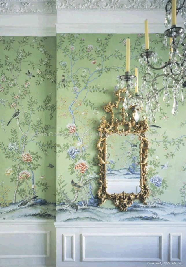 Chinese design #wallpaper #dcor #oriental #shabbychic