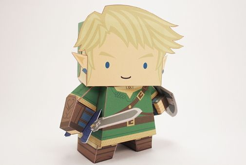 The Legend of Zelda - Link (Cubefold) Free Paper Toy Download - http://www.papercraftsquare.com/the-legend-of-zelda-link-cubefold-free-paper-toy-download.html#Link, #TheLegendOfZelda, #Zelda