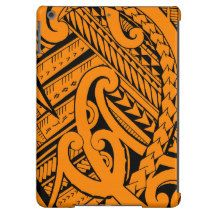 Samoan tribal tattoo design with spearheads iPad air cover