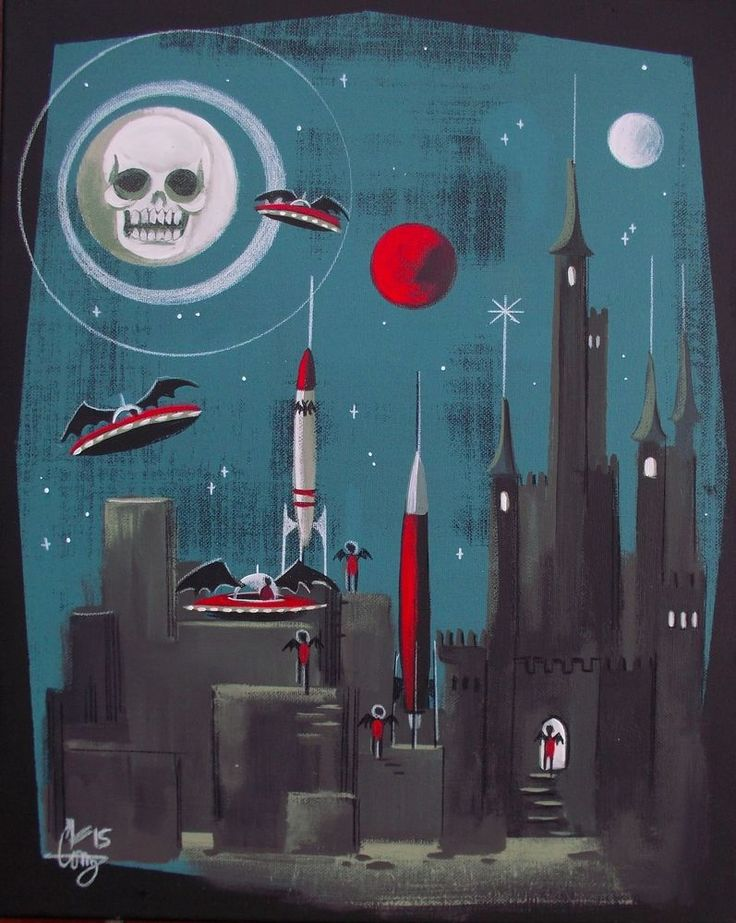 17 best images about el gato gomez bones on pinterest for Retro outer space