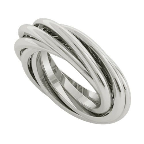 Elements Silver Women's 925 Sterling Silver Triple Russian Wedding Bangle of Flat Bands XgaOB