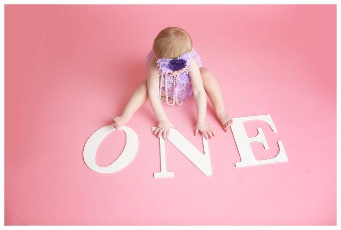 Annapolis Family Photographer , first birthday, ONE letters, pink
