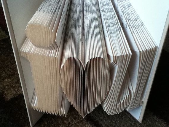 I Love You Recycled Books Folded Book Wedding