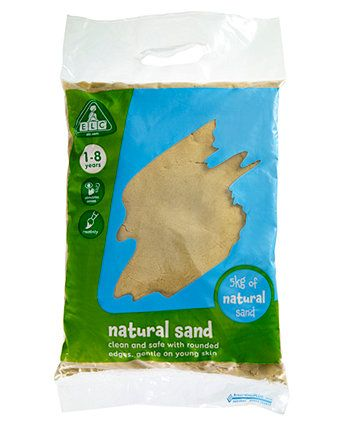 Soft, smooth play sand, perfect for sand pits.