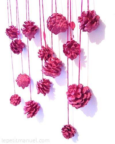 Bain rose pour pommes de pin @ Le Petit Manuel