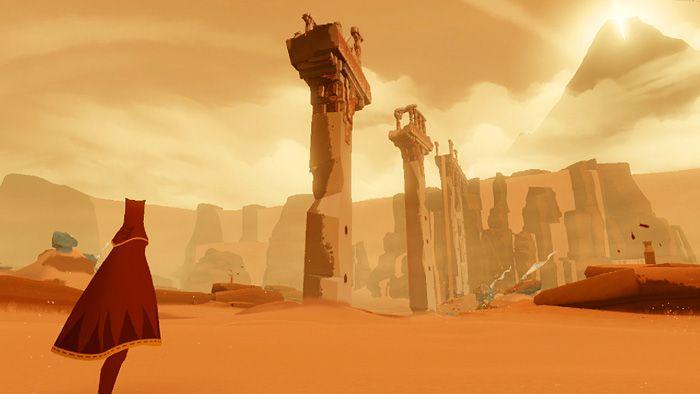 """今気になっているゲーム-「風ノ旅ビト」  I'm interested in the PS3 game """"Kaze no Tabibito"""" means """"A traveler of the wind""""."""