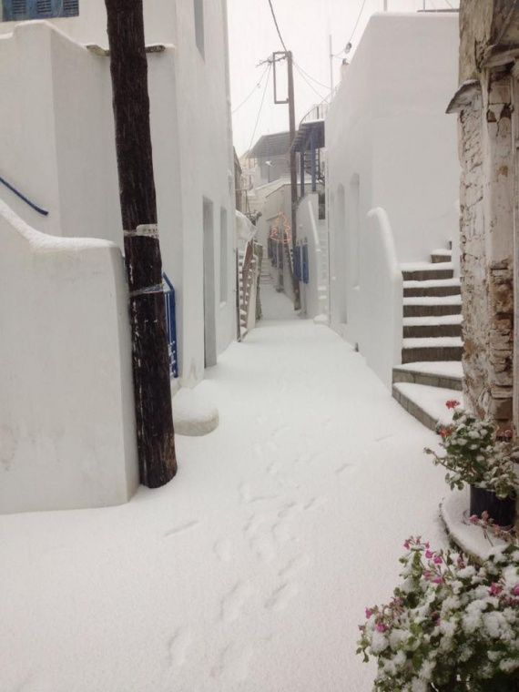 TINOS ISLAND , GREECE (WINTER TIME)