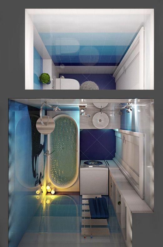 Морская ванная комната . Западное Кунцево. Москва. Ванная
