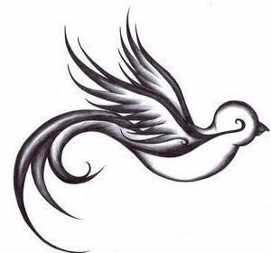 #swallow #bird #tattoo..like this but a cardinal in red?