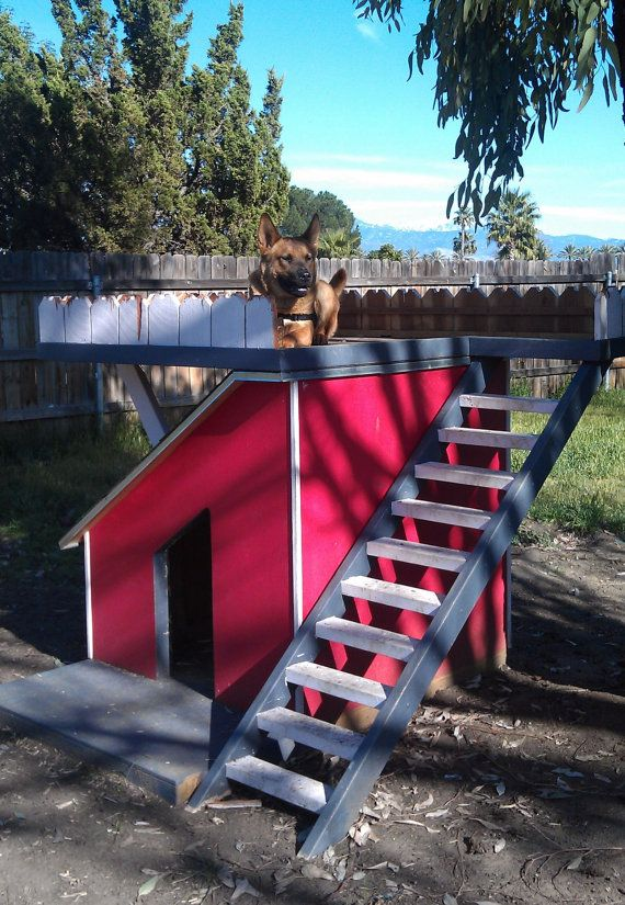 so cool!Dog House custom two story by carlosoliva on Etsy, $500.00