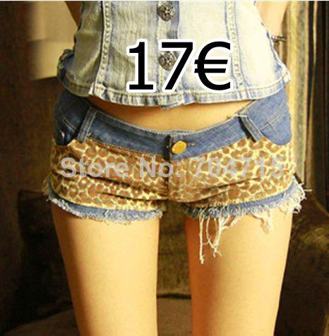 pantalones cortos con estampado de leopardo