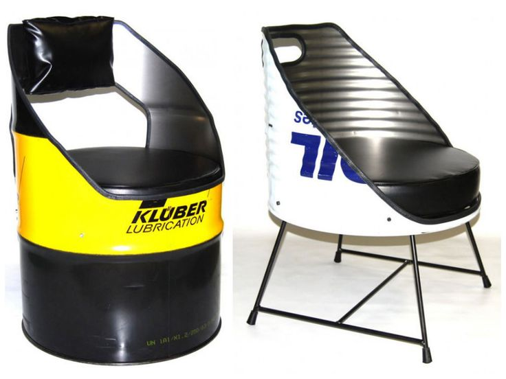 Oil drum seats by Vaho #Drum, #Recycled, #Seat