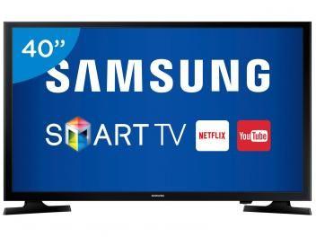 """Smart TV LED 40"""" Samsung Full HD UN40J5200 - Conversor Digital Wi-Fi 2 HDMI 1 USB"""