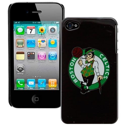 Boston Celtics iPhone 4 and 4S Case Black Shell by Boston
