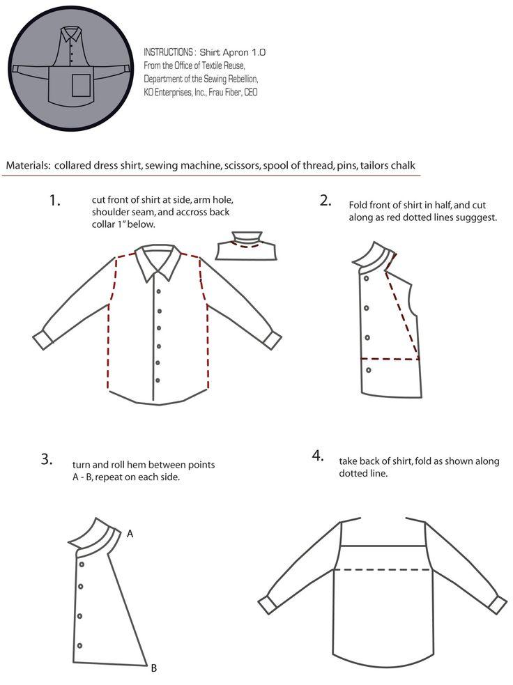 shirt apron instructionspage 1 | Sewing Rebellion