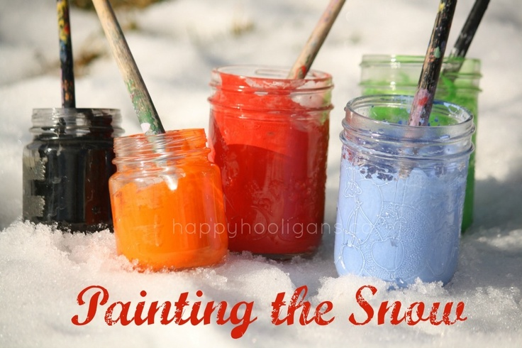 painting the snow (updated link) - happy hooligans