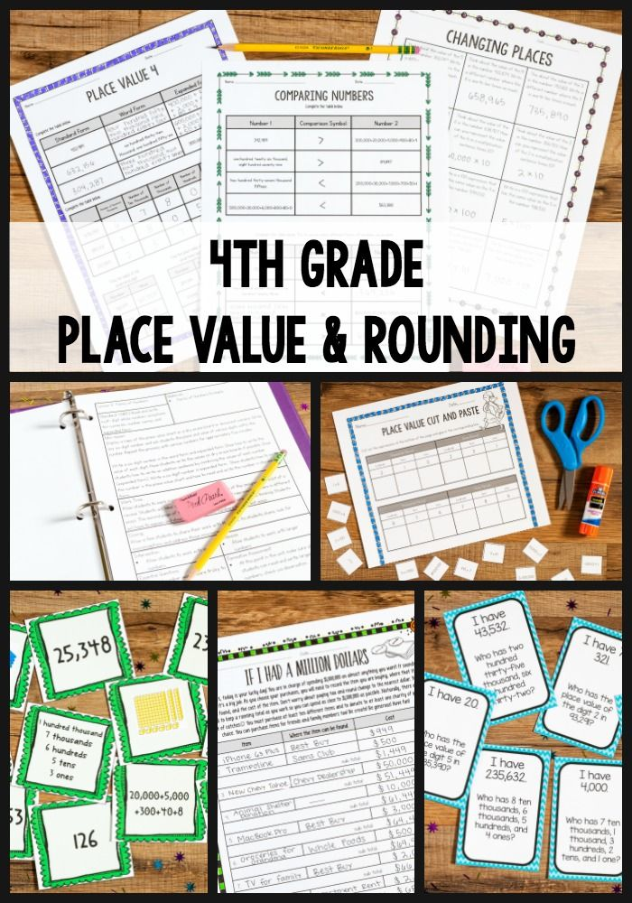 This fourth grade place value unit contains detailed lesson plans, performance tasks, task cards, games, and printables! Concepts include representing numbers through the hundred thousands place in standard, written, and expanded form, identify the place and value of numbers, as well as rounding numbers to any place.
