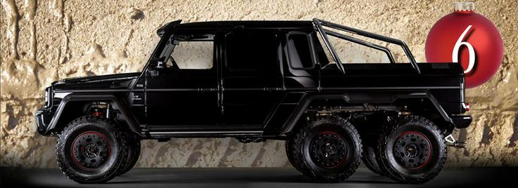 As off-road as it gets: the G 63 6x6 AMG is the obvious choice for the 6th door of our advent calendar, wouldn't you agree?  [Photo courtesy of fünfkommasechs.de | Die S-Klassiker der Achtziger Jahre and Mercedes-Benz München]