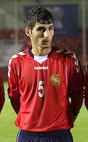 Hakob Loretsyan in the Armenia v Switzerland UEFA European Under-19 Championship Qualifying Round match at New Douglas Park, Hamilton on 11.10.12.