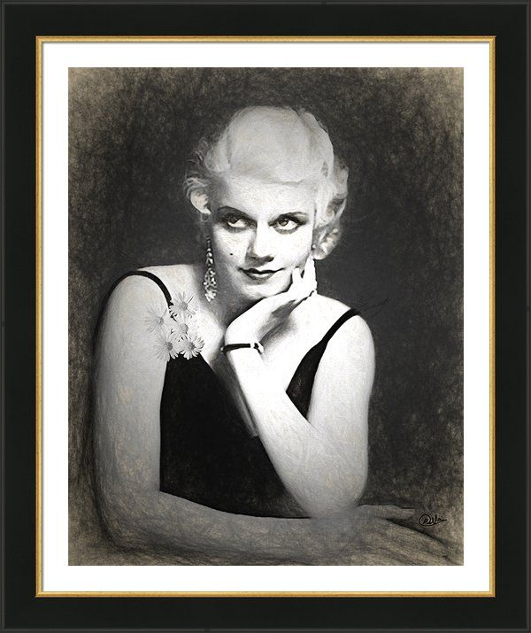 #Jean #Harlow Framed Print By Quim Abella