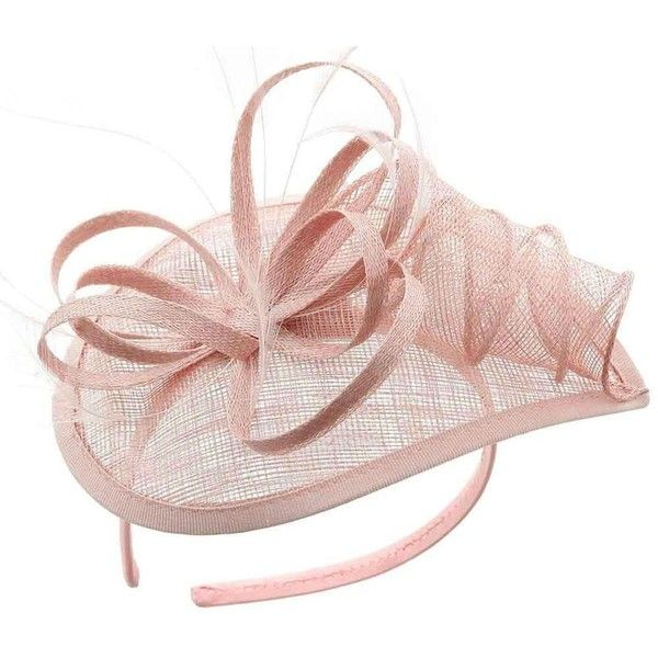 Sinamay Fascinator Pillbox Hat Hair Hoop Tea Party Derby Cocktail Hat... ($21) ❤ liked on Polyvore featuring accessories, hair accessories, evening hair accessories, hair fascinators, holiday hair accessories and fascinator hat