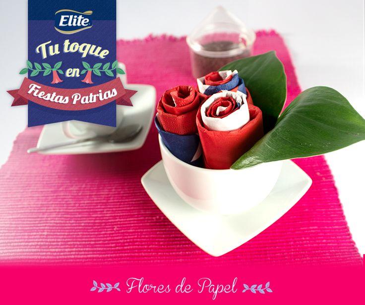 Tu toque en Fiestas Patrias con ELITE - Haz Flores y descubre cómo decorar tu mesa este 18 de septiembre.