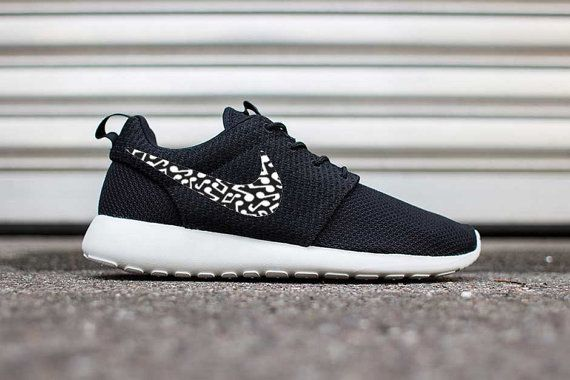 Custom Musical Notes Print Nike Roshe Run Shoes Fabric Design Hand Made Personalized 2015 CUSTOMIZED