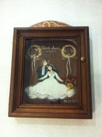 wreath case, just married
