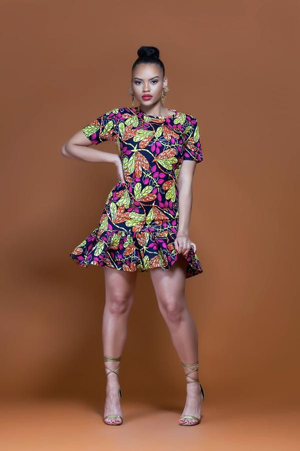 African Print Bika Midi Dress| Grass-fields| Dazzle the party