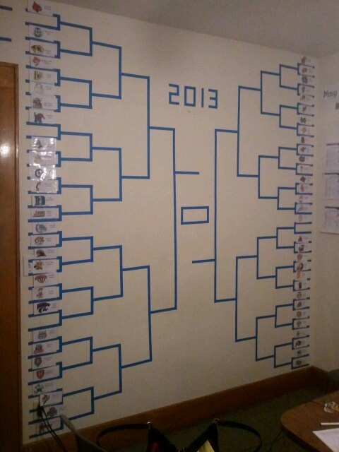 March Madness! Giant ncaa tournament bracket