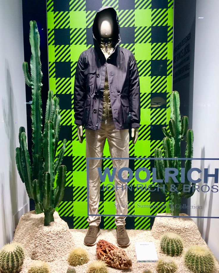 "WOOLRICH, Quadrilatero Della Mode, Milan, Italy, ""Desert Cactus Vibes"", photo by Giuseppe Gargallo, pinned by Ton van der Veer"
