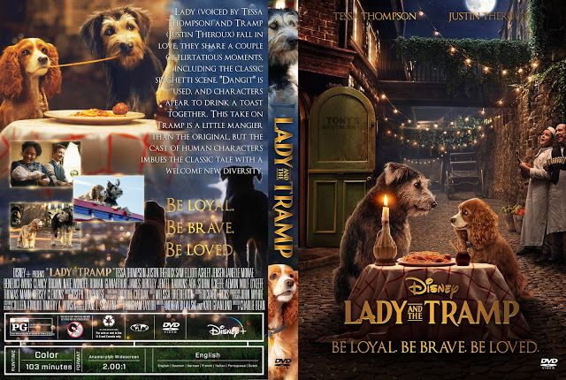 Lady And The Tramp 2019 Dvd Cover Lady And The Tramp Dvd Covers Dvd Label