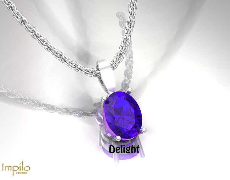 """""""Delight"""" - Simplicity is just as elegant with this stunning oval cut tanzanite in a four claw setting."""