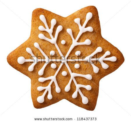 Star shape christmas gingerbread isolated on white background - stock photo