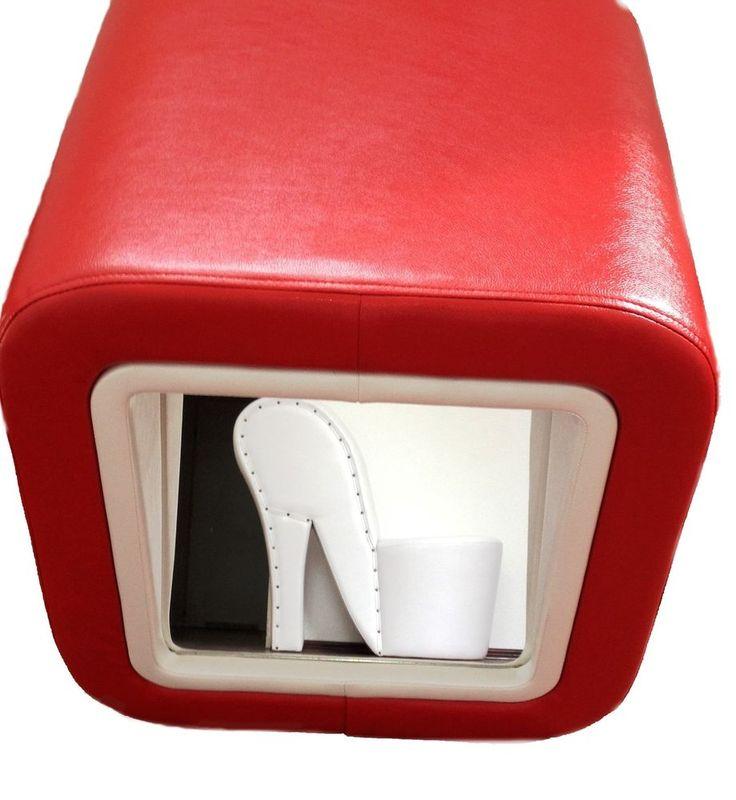 Schuhanprobe, Schuhhocker, Schuhanprobierhocker Shoe Fitting Stool. inkl20%MWST!