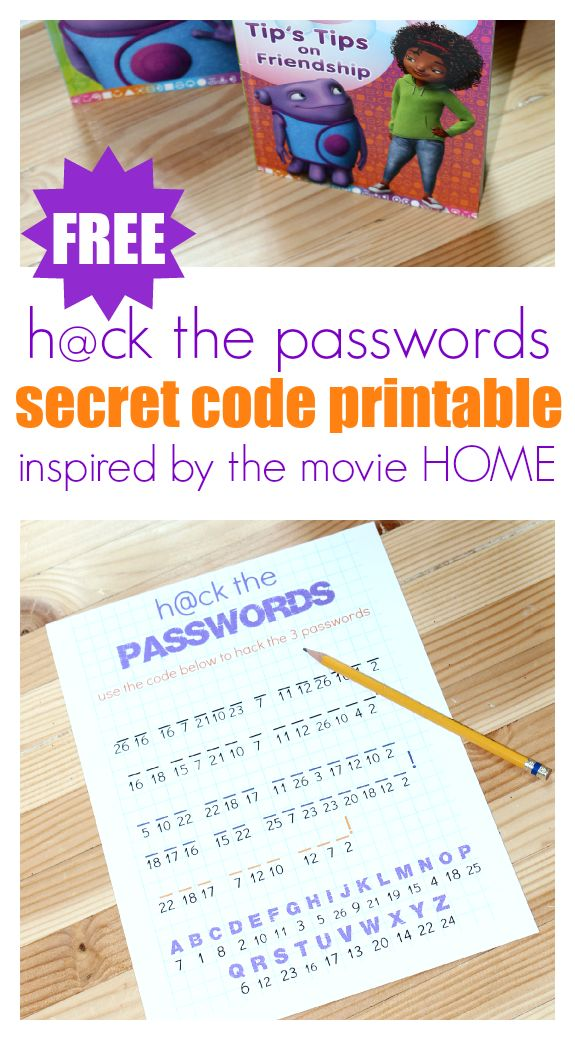 """FREE printable inspired by the movie HOME. Perfect for birthday parties or family movie night. My """"big kid"""" ( he's 8) LOVED this and I loved that he got some handwriting practice too!"""
