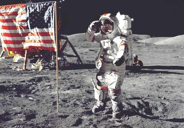 Does the US own the Moon? -- Back in 1967 the 'Outer Space Treaty' was written and to date over 100 countries have signed it. This treaty looks to provide a simple legal framework to use regarding the space around Earth and the rest of the Solar System. Under this 'Space law', claiming of any region of space or celestial body – Moon, asteroid etc – is expressly forbidden, as is the use of these objects for any military purposes.