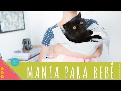 Manta para bebê passo a passo com barrado embutido Descomplica! - YouTube