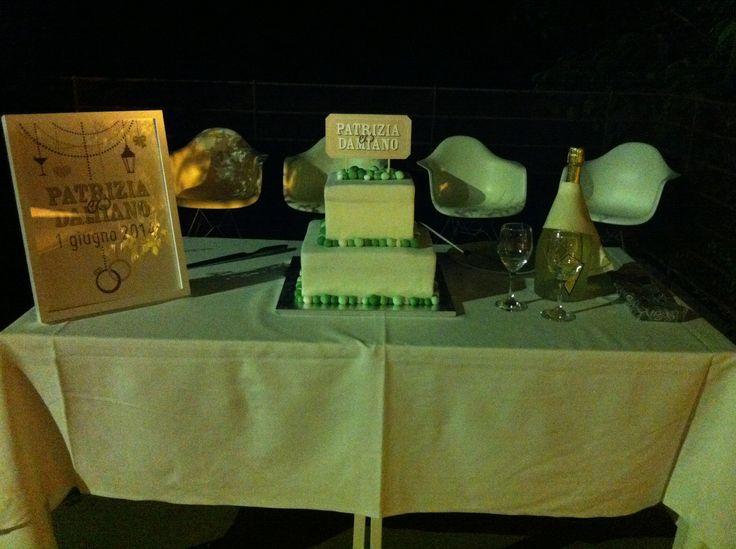 #torta #matrimonio #mentacioccolato #cake #weddingcake #wedding #biancoverde #cakedesign #chiryscakes #sposi Patrizia&Damiano