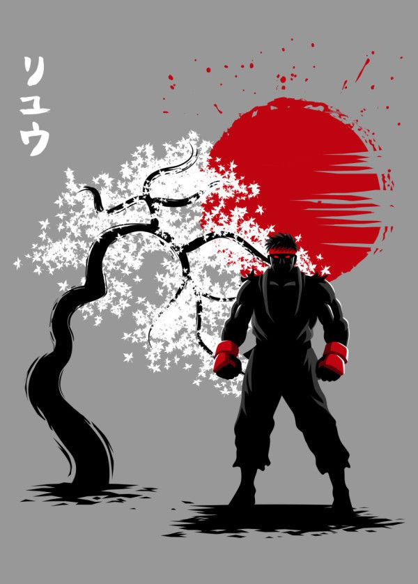 Cherry Tree Fighter Poster Print By Alberto Perez Displate In 2020 Street Fighter Wallpaper Ryu Street Fighter Street Fighter