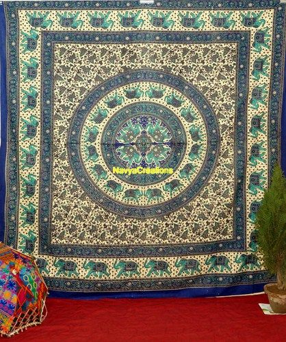 Indian Hippie Mandala Psychedelic Wall Hanging Tapestry Queen Throw Ethnic .  Beautiful Indian Elephant Star mandala Throw wall hanging Bedspread . This tapestry features swirling floral pattern, with an Mandala medallion. Perfect for topping a bed, couch, wall or your favourite chair.