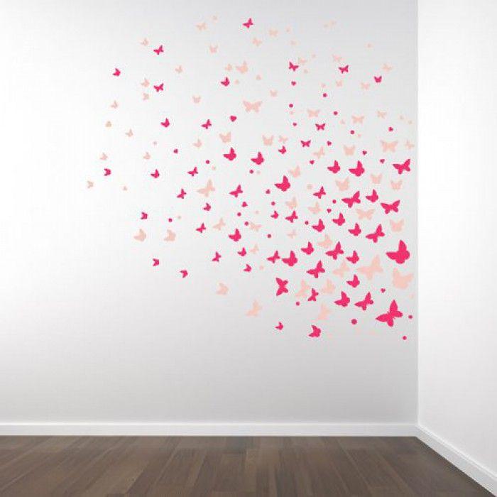 Muurstickers Vlinderset in twee kleuren naar keuze