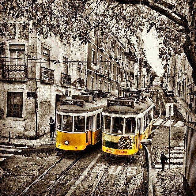 Tram, Lisbon, Portugal