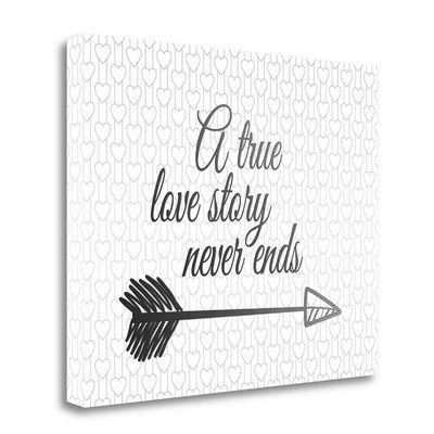 Tangletown Fine Art 'A True Love Story' by Tara Moss Textual Art on Wrapped Canvas