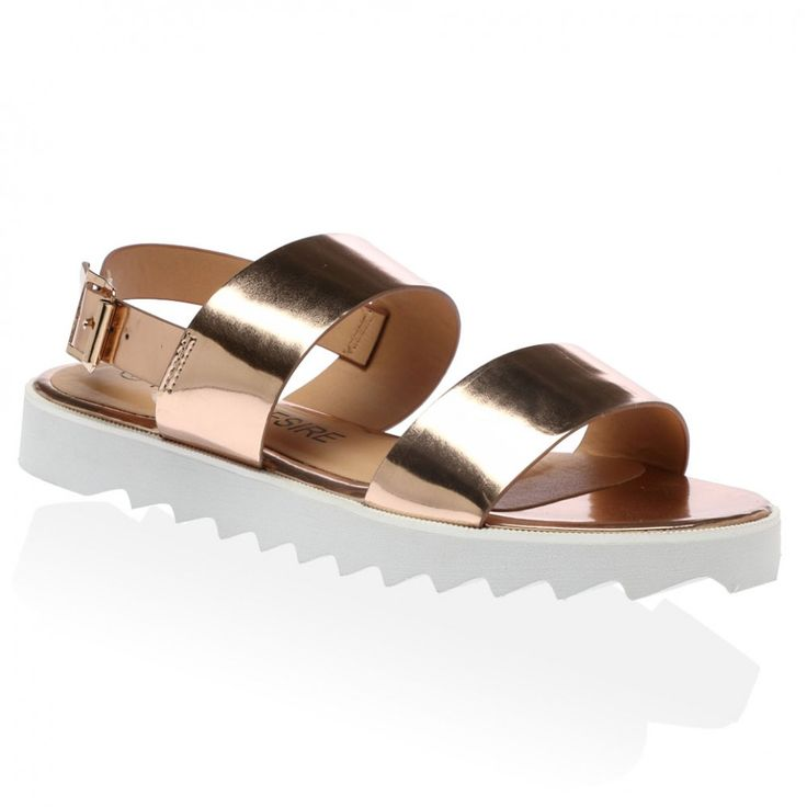 Tanya Flats Sandals in Champagne
