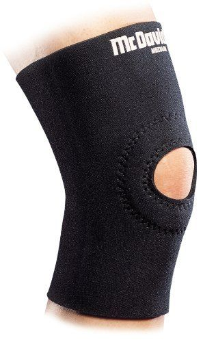 McDavid Neoprene Knee Sleeve with Open Patella (Black, XX-Large) by McDavid. $12.25. Pull on knee support with slip resistant inner fabric and padded buttress