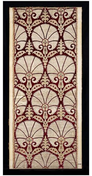 17th century #turkish velvet furnishing fabric • voided silk velvet in carnation design